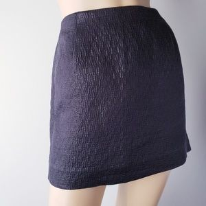 J. Crew Skirts - J. Crew Charcoal Gray Cotton Silk Metallic Skirt